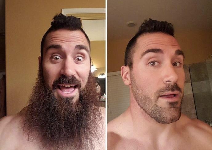 男生刮胡子变化前后有多大?要看他会不会刮!