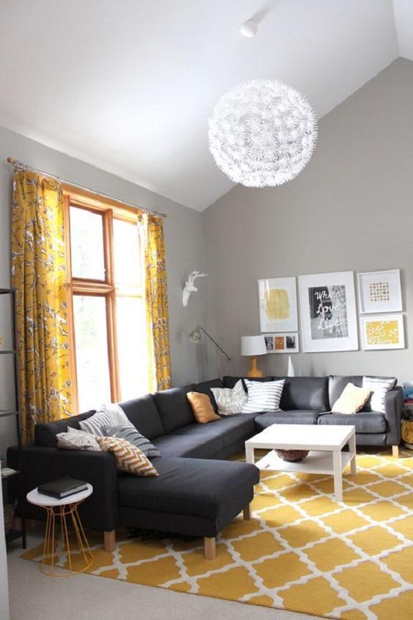 U字形沙发需要空间宽敞  图片源自decoist. com