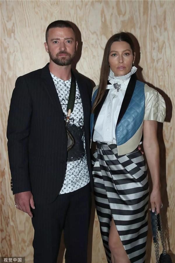 Justin Timberlake和 Jessica Biel (图片来源于视觉中国)