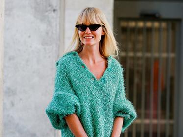 屬于冬天的溫暖——純色針織毛衣,慵懶簡約讓你更有女人味!