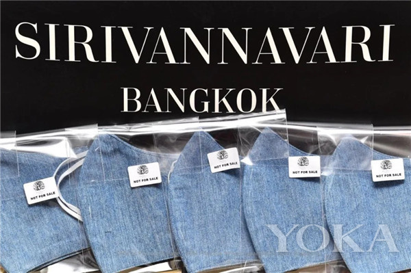 棉麻口罩(圖片來源于Sirivannavari Nariratana facebook)